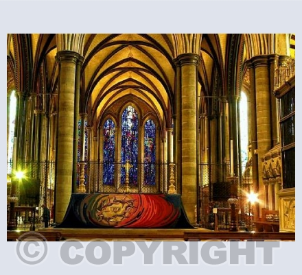 Salisbury cathdral alter cloth