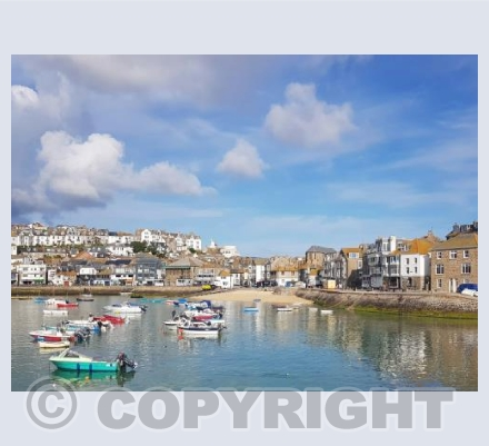 Blue Harbour reflections - St Ives
