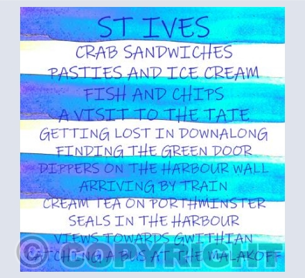 St Ives words and stripes 2