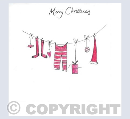 Christmas washing line