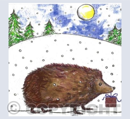 Happy Hedgehog Christmas