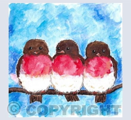 Three Robins in a Row