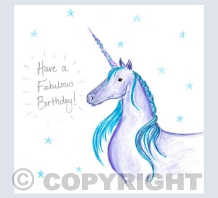 Unicorn Birthday wishes!