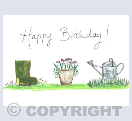 Birthday wishes to a happy gardener!