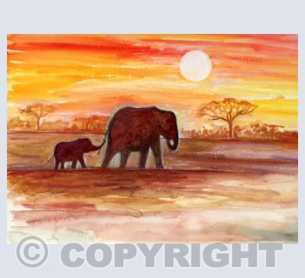 Elephants wondering the African Plains...