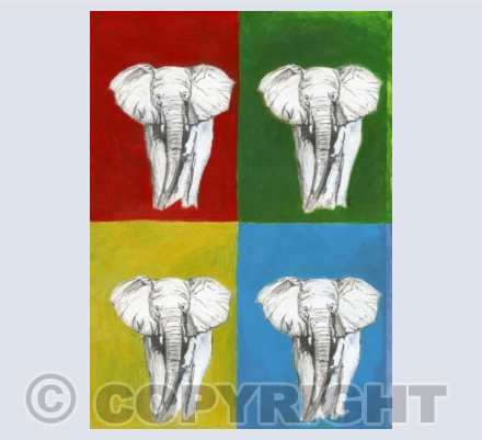 Pop Art Elephants