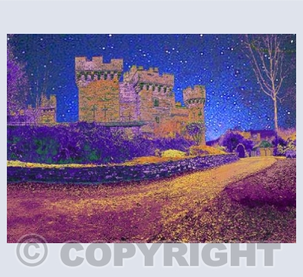 Wray Castle, Cumbria - On a Starry Night.