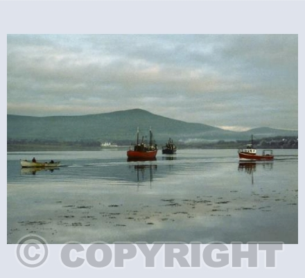 Fishing Boats Leaving at Dawn, Dingle Bay, Eire.
