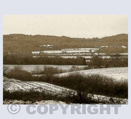 Snow on the South Downs, Surrey.