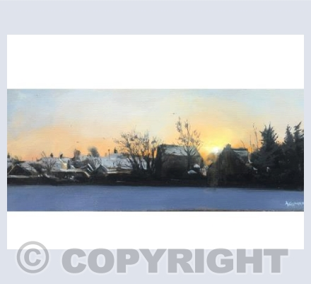Snow and Sunset Hambidge Lane 2018