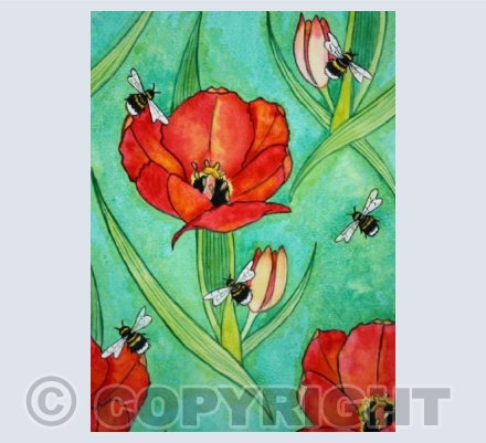 Bees and Tulips