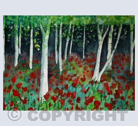 Tulips and Silver Birch