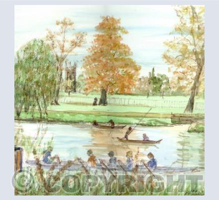 The River Cherwell card