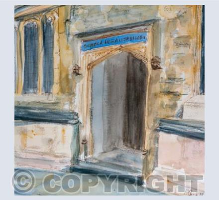Bodleian Library door card