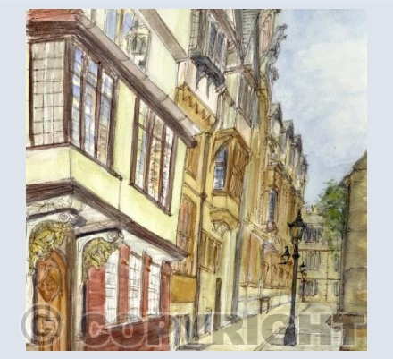 St Mary's Passage, Oxford Card