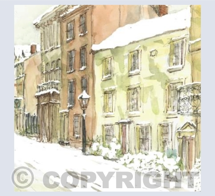 St Giles' in the snow card