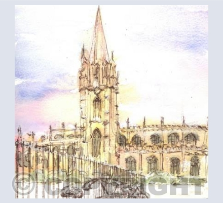University Church in the snow card