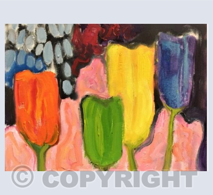 Tulips after Kirchner
