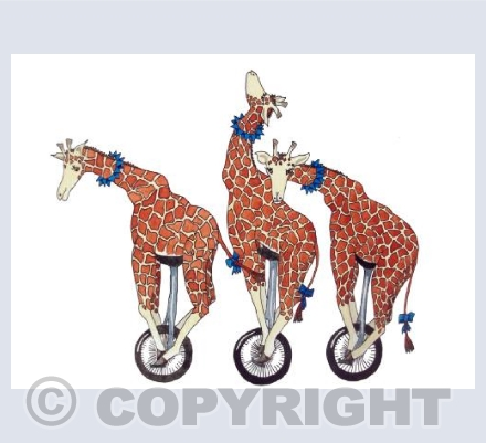 Giraffe Unicycle Display Team