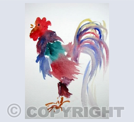 Multi Coloured Cockerel