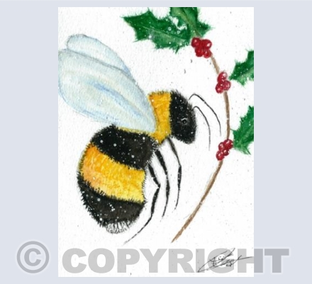 Christmas bumble bee