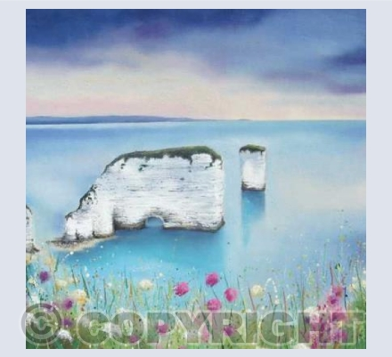 Old Harry's Rocks - Greeting Card
