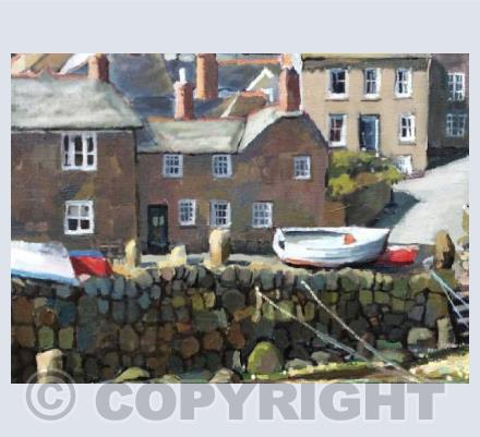 Boats on the Quayside, Mousehole.