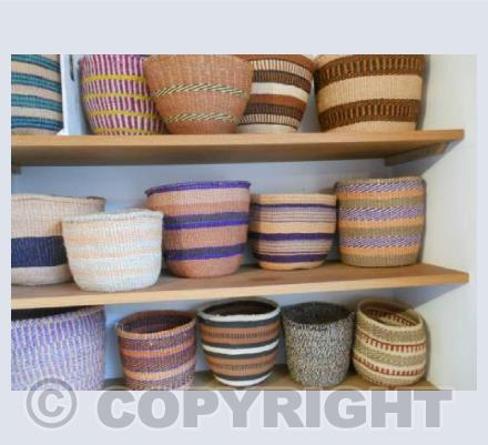 Purple and Brown Baskets