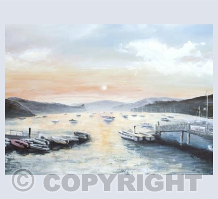 Sunrise at Salcombe Harbour