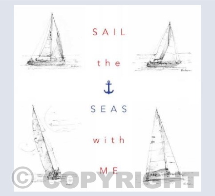 Sail the seas with me card