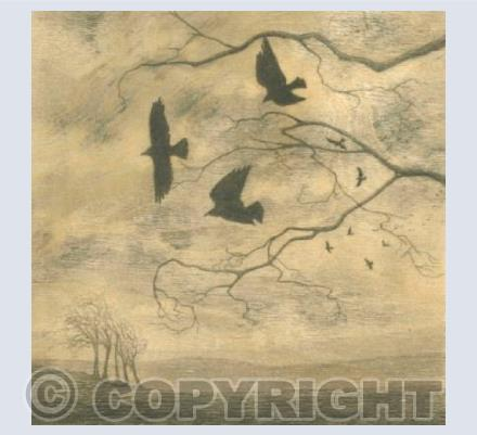 Crows in Landscape