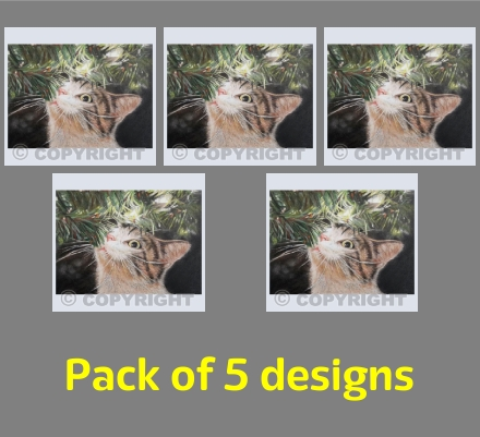 Christmas Cat (pack of 5)