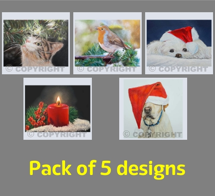 Christmas Mixed (pack of 5)