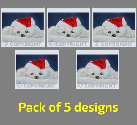 Santa Puppy (pack of 5)