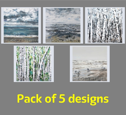 Seascapes and Silver Birches