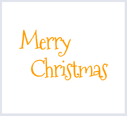"Text Option - ""Merry Christmas"" - click to select"