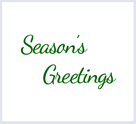 "Text Option - ""Season's Greetings"" - click to select"