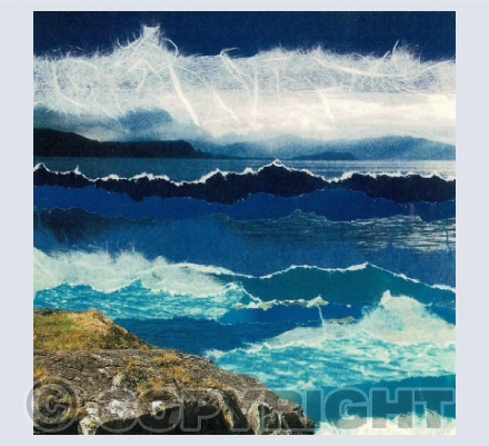 Mixed media Seascapes