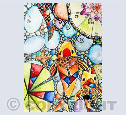 Stained Glass Inspired Paintings