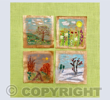 Tea bag embroidery